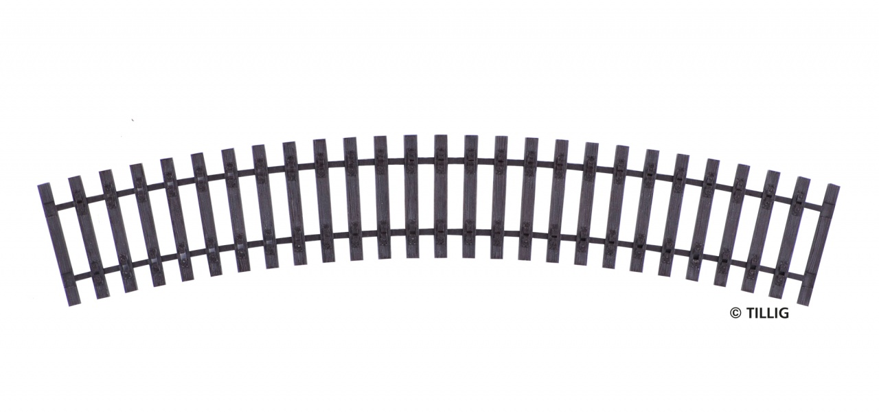H0 Gebogenes Schwellenband R543/30°