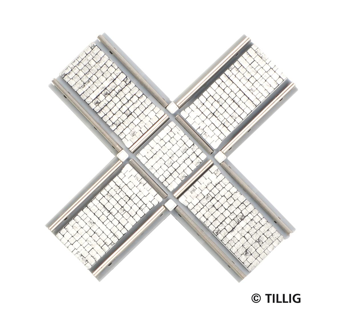 H0 Kreuzung symmetrisch Pflaster