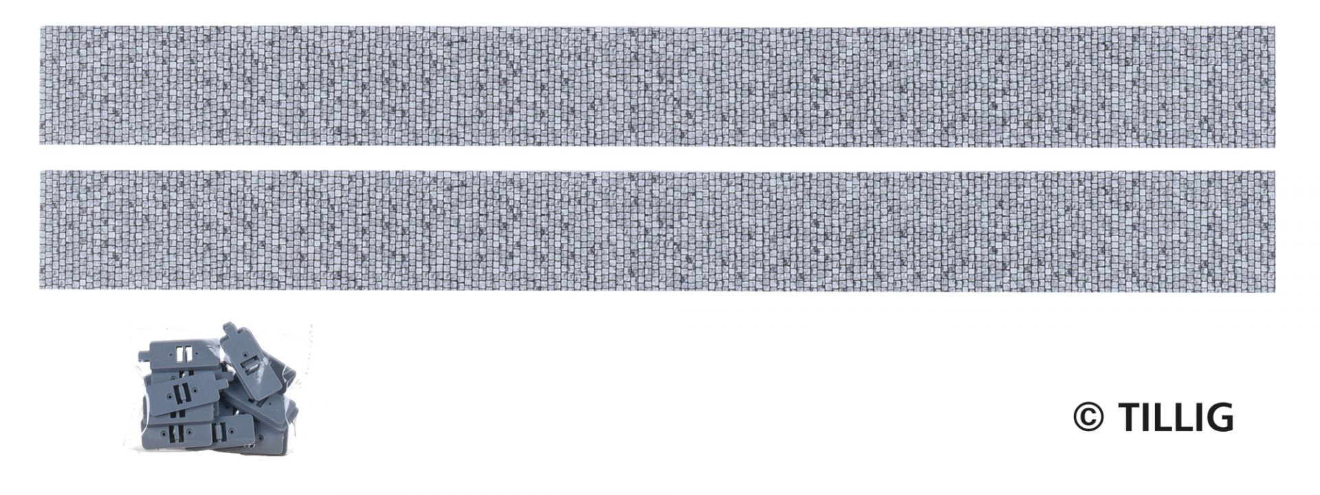 Gerade (2x Parallel) 316,8x32mm Pflaster (TT, H0m)