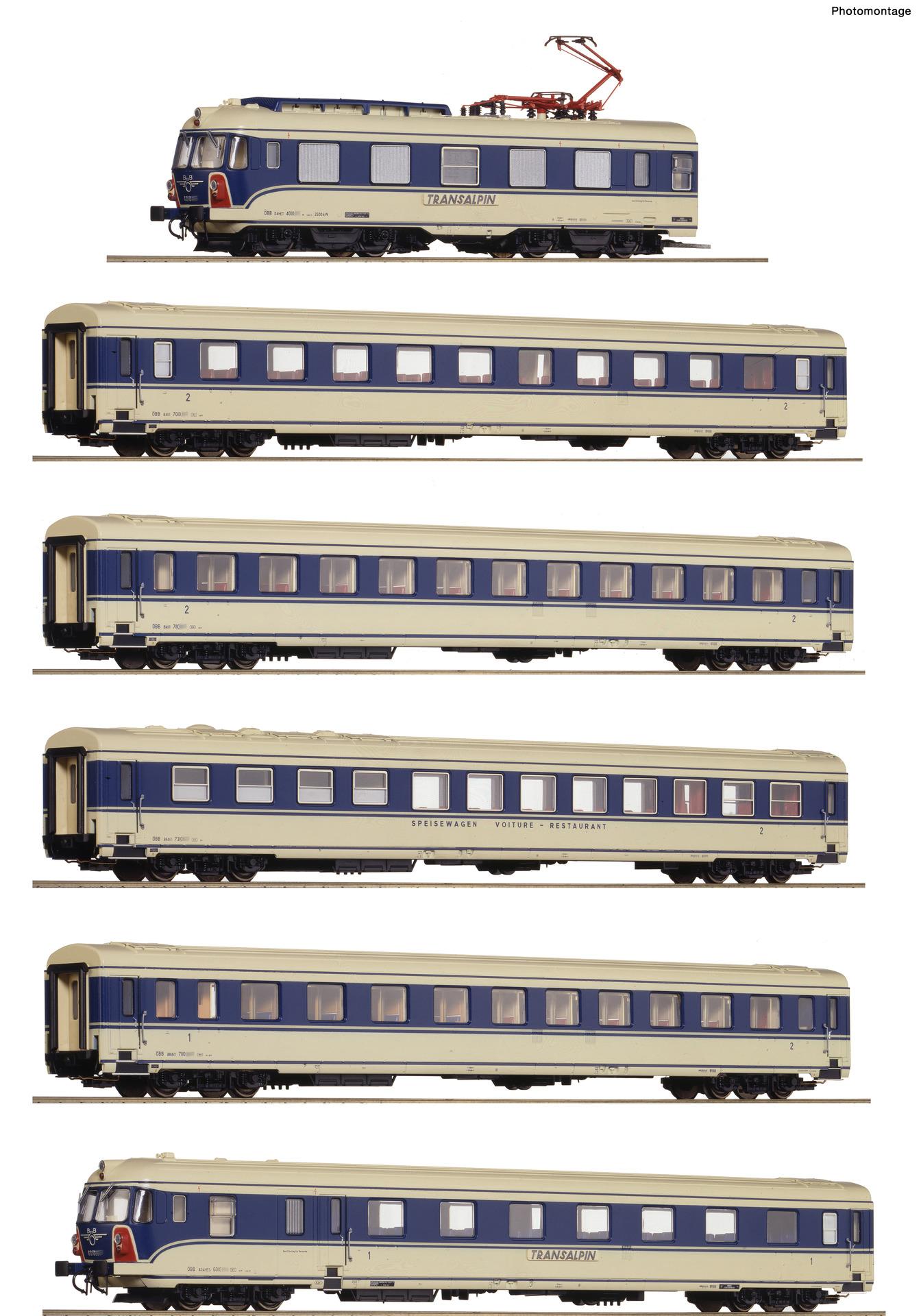 H0 6-tlg. Elektrotriebzug 4010.04 Transalpin der ÖBB, Ep.IV