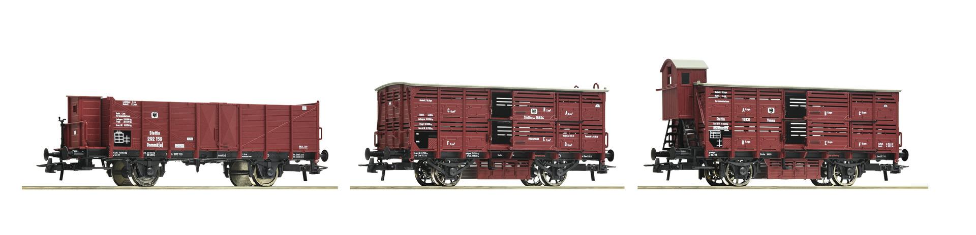 H0 3-tlg. Set: Güterzug der K.P.E.V., Ep.I