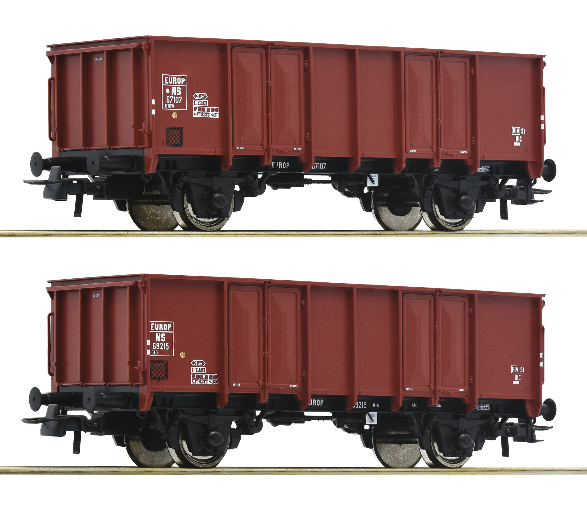 H0 2-tlg. Set Offene Güterwagen der NS, Ep.III