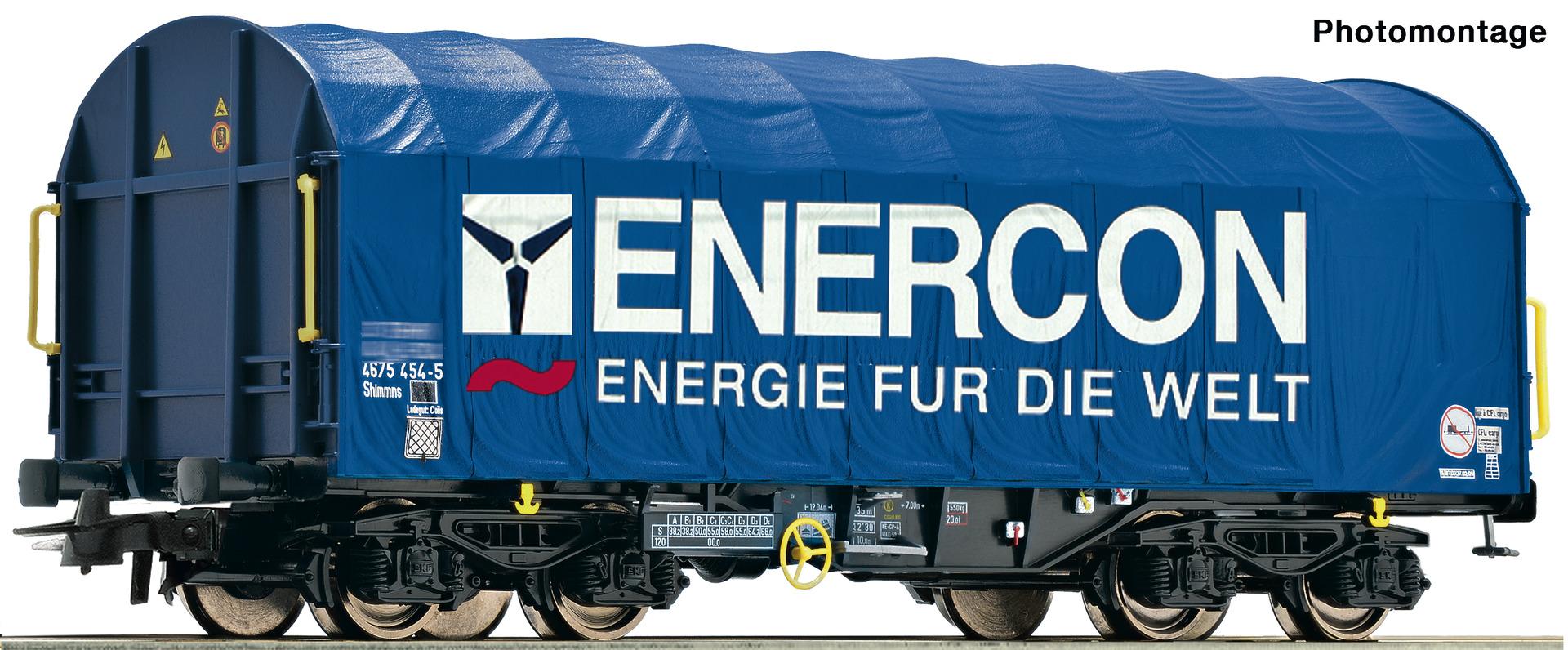H0 Schiebeplanenwagen der Enercon, Ep.VI