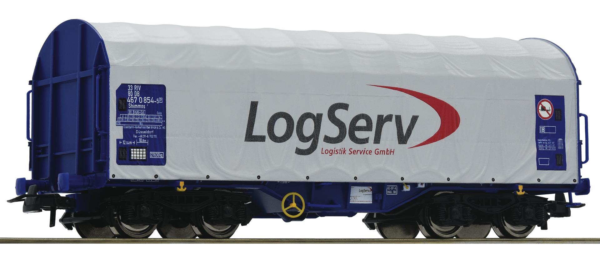H0 Schiebeplanenwagen der Logistik Service GmbH, Ep.VI