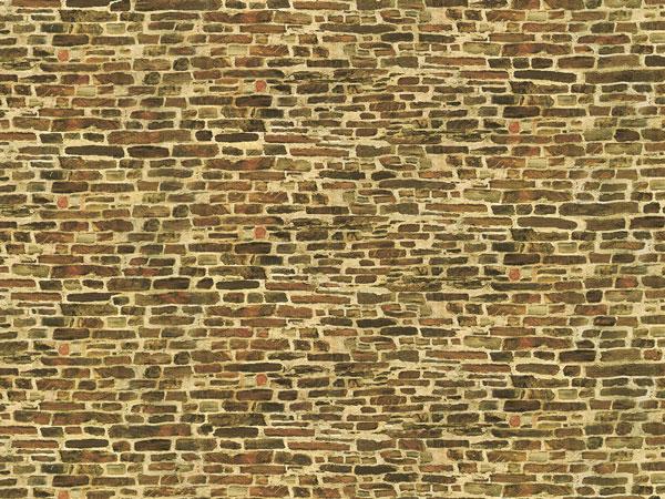 1 Dekorpappe Kalksteinmauer klein lose (220 x 100 mm)