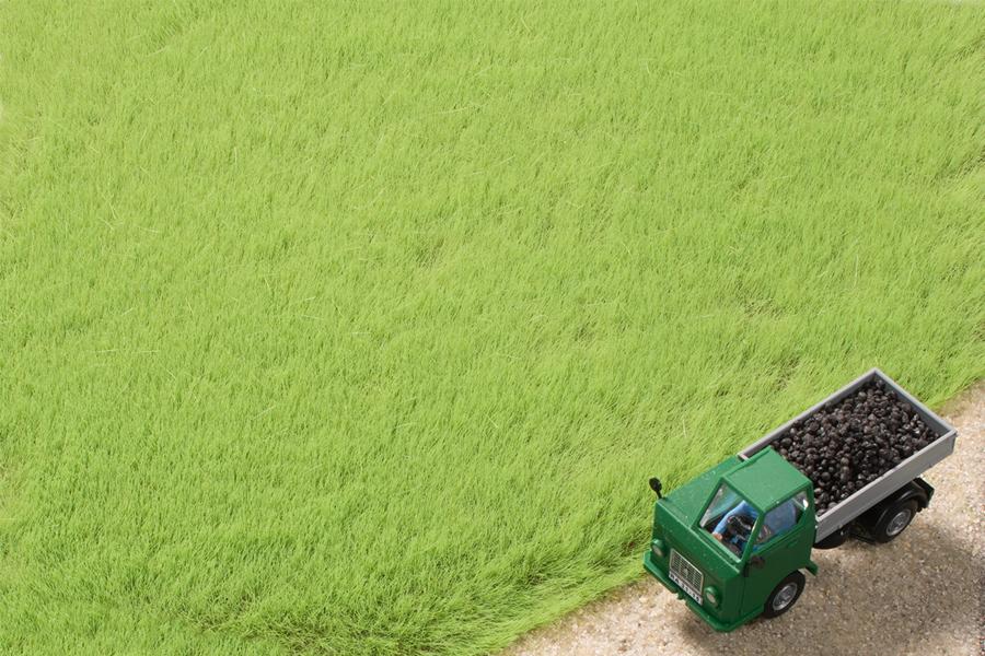 Grasfasern hellgrün 4,5 mm (50 g)
